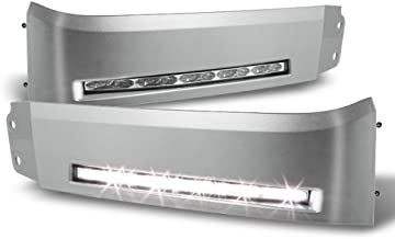 ACANII - For Silver 2007-2013 Tundra Headlights Bumper DRL LED Running Lights Lamps Xsp-X Assembly Driver & Passenger