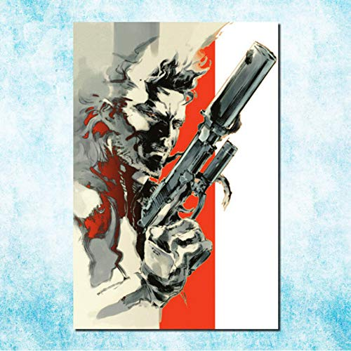 muyichen Imprimir En Lienzo Metal Gear Solid V The Ghost Pain Art Canvas Poster Print Solid Snake Game Cuadro De Pared Pintura Sin Marco Ra488 40X60Cm Sin Marco