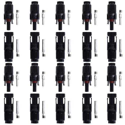 10 paia BTSKYTM MC4 Solar spina Solar 10 spina 10 presa femmina spina, nuovo