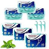 Hilo dental 360 Piezas,hilo dental menta frasca Palillos de hilo dental Plástico con estuches portátiles perfectos para la familia,hotel,viajes