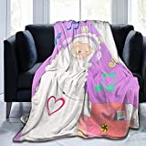 Purple Llama Alpaca Throw Blanket Music Air Conditioning Lightweight Soft Flannel Blanket for Sofa Chair Bed Office Travelling Camping 50'X40'