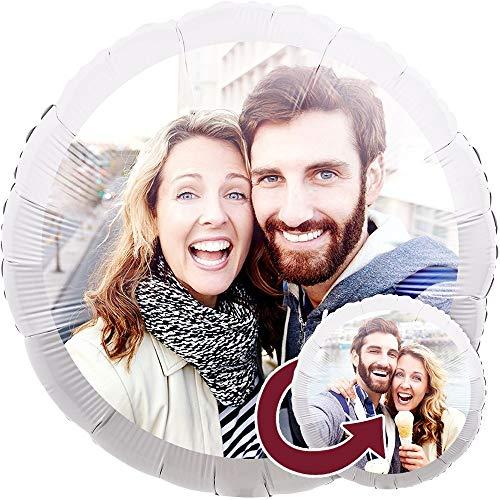 Personalisierter Foto-Ballon zum selbst gestalten, als Geschenkidee und Überraschung, heliumgefüllt, 2-Seitig Bedruckt