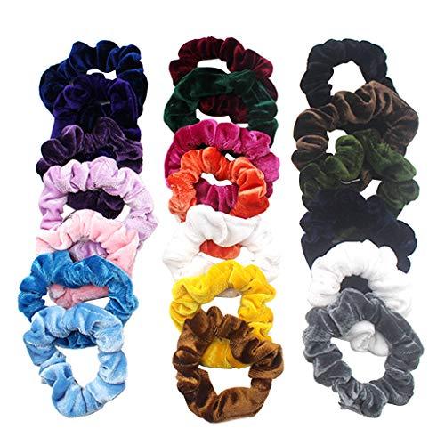 Chouchous Cheveux 20 Pièces Élastiques Cheveux En Velours Cheveux Cravates Bandes De Cheveux Chérubins Porte-queue De Cheval Bandeaux pour Femmes Accessoires De Cheveux