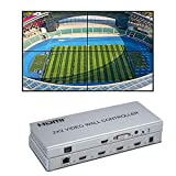 1080P 2x2 Video Wall Controller HDMI/DVI Entradas 4 HDMI Salida Video Processor Apoyo 1X2 2X1 2X2 3X1 1X4 4X1