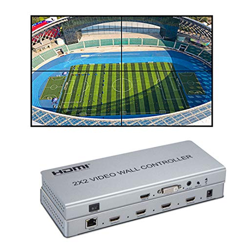1080P 2x2 Video Wall Controller 1 HDMI/DVI Ingressi 4 HDMI Uscita Video Processor supporto 1X2 2X1 2x2 3X1 1X4 4X1