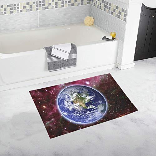 YXUAOQ Planet Earth Star Elements Dieses Bild Benutzerdefinierte rutschfeste Badematte Teppich Bad Fußmatte Boden Teppich für Badezimmer 20 X 32 Zoll