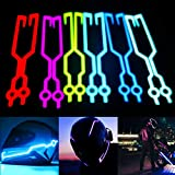 Motorradhelm EL Kaltlicht Aufkleber Kit Night Riding Signal Blinklichter Strip Bar (Color : Blue)