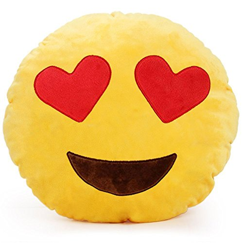 YINGGG Cute Emotion Plush Pillow Round Cushion Toy Gift for Friends/Children