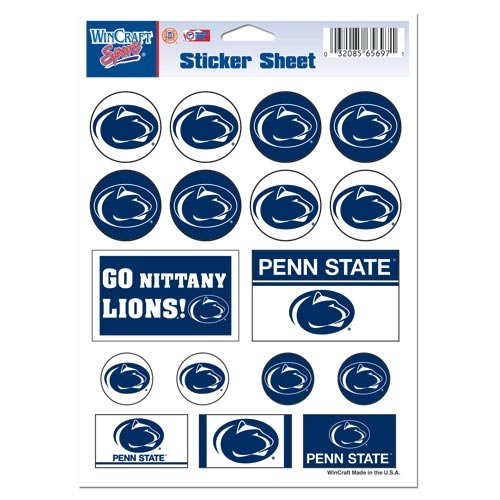 NCAA Penn State University Vinyl Sticker Sheet 5 x 7