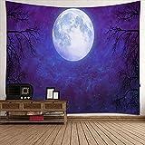 Luna Tapiz colgante de pared,Arte hermosa luna Tapiz impreso de...
