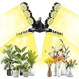 SANSI 600w Equivalente Lámpara de planta LED de espectro completo E27, Diseño ajustable para una mayor área de iluminación, LED Bombilla de Crecimiento de 60W para plantas de interior, PPF 96 umol/s