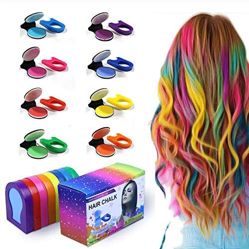 Hot 8 couleurs craie de cheveux Portable couleur de cheveux poudre bricolage Pastel teinture pour les cheveux temporaire couleur de cheveux peinture beauté doux Pastels Salon style