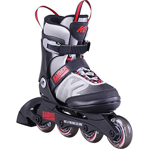 K2 Skates Jungen Inline Skate Raider — grey - red — M (EU: 32-37 / UK: 13-4 / US: 1-5) — 30D0101