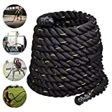 <span class='highlight'>Denny</span> <span class='highlight'>Shop</span> 38/50mm 9/15m Battle Power Rope For Battling Sport Gym Exercise Fitness and Arm strengthen Training Rope by Crystals® (9m Length with 38mm Dia)