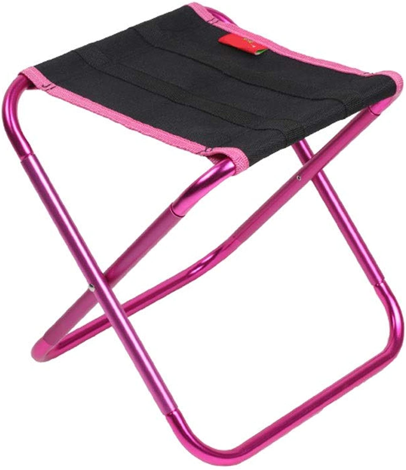 LNYJ Aluminum Alloy Mazar Outdoor Folding Chair Ultra Light Portable Camping line Fishing Small Stool Simple Small Bench (Load Bearing  85kg) (color   Purple)