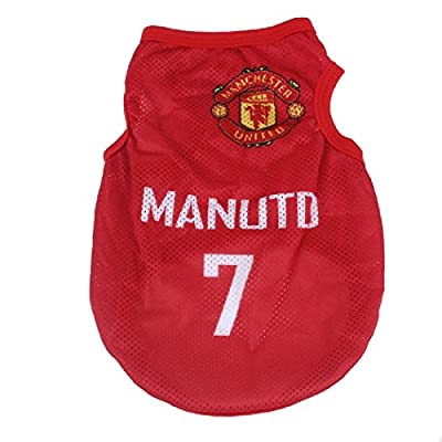 KayMayn Pet Jersey Football Licensed Dog Jersey, Comes in 3 Sizes,Dog Clothes Football T-shirt Dogs Costume National Soccer World Cup,Outdoor Sportswear Summer Breathable