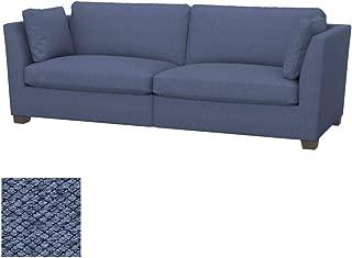 Soferia Replacement Cover for IKEA Stockholm 3,5-seat Sofa Cover, Fabric Nordic Denim