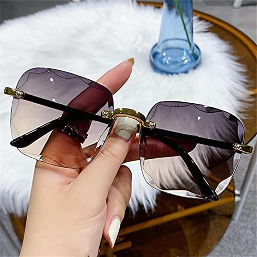 Gafas De Sol Gafas De Sol Sin Montura De Moda para Mujer Gafas De Sol Cuadradas para Mujer Gafas De Sol De Color Rosa Degradado Retro Número De Color Nobox