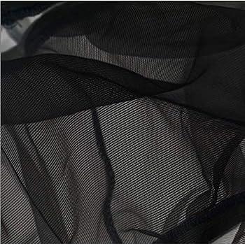 xinxiu Filet de cage à oiseaux extensible pour ramasser les graines d'oiseaux, jupe en maille de nylon, ventilé et résistant à la poussière (noir)