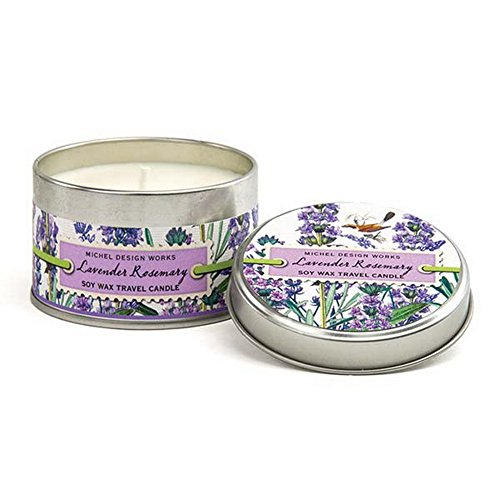 Michel Design Works Lavender Rosemary Soy Wax Travel Candle