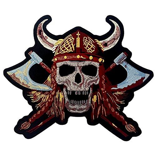 Parche biker de calavera Viking