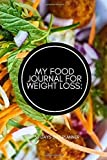 """My Food Journal for Weight Loss: 30 Days Diet Planner: Compact All in One Organizer, Book, Tracker Guide Notebook to Monitor and Track Daily Food ... 6""""x9"""" 120 pages. (Food Diet & fitness Diary)"""