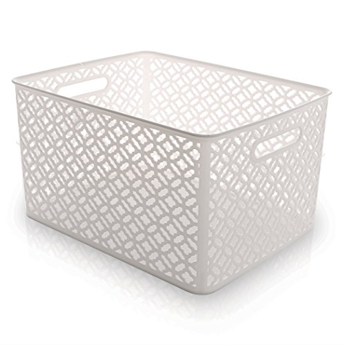 BINO Woven Plastic Storage Basket X-Large White