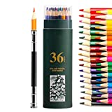 Matite acquerellabili, matite professionale Acquarello, matite Art Supplies Matite di coloritura Set da colorare, mescolando e sfondo for Adulti Libri da colorare, Artista Disegno, oleose 24 colori