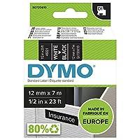 D1 12mm tape white/black