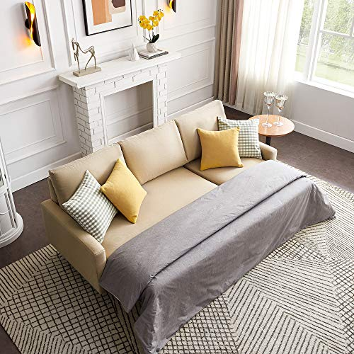 Merax Sofa Bed Couch Sets for Living Room, Pull Out Sleeper and Storage, 84