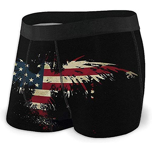Millancty Eagle American Flag Unterwäsche für Herren Bequeme Boxershorts mit elastischem Bund L