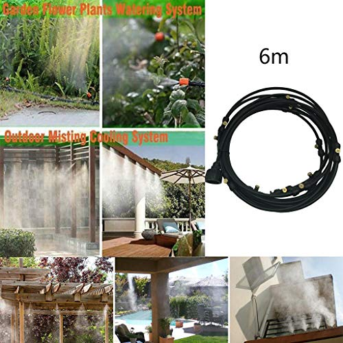 Patio Misting Micro Flow Watering System Best for Greenhouse Trampoline for Waterpark Home Garden Misting Cooling Automatic Distribution System with Adjustable Tubing Hose