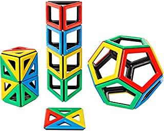 Polydron Magnetic Extra Shapes Kit Educational Construction Set Suitable for Children 3+ Years Old