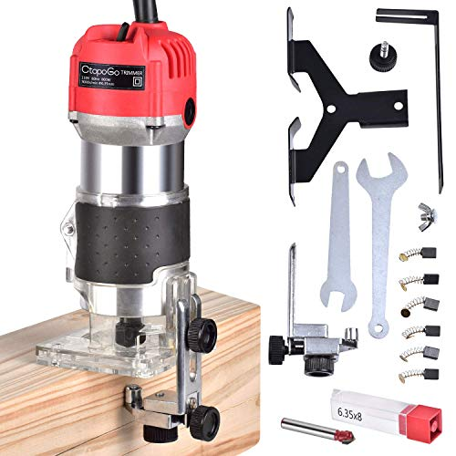 Electric Hand Trimmer Wood Laminator Palm Router Woodworking Joiner Cutting Planning Tool 30000R/MIN...