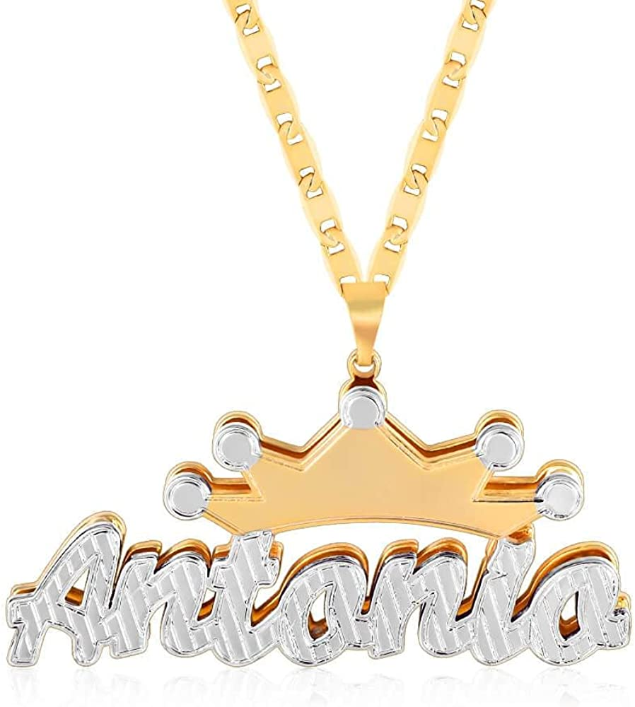 Double Super-cheap At the price of surprise Plated Nameplate Name Pers Necklace Heart Custom
