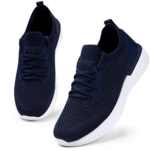 HKR Damen Sneaker Bequeme Turnschuhe Atmungsaktiv Sportschuhe Leichtgewichts Laufschuhe Blau/40 EU
