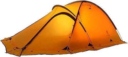 online al mejor precio GYFY Carpa de Doble Capa Ultra-Light Cuatro Temporadas Temporadas Temporadas recubiertas de silicio Anti-tormenta de Lluvia de Montaña Doble Camping Camping,amarillo  la mejor oferta de tienda online