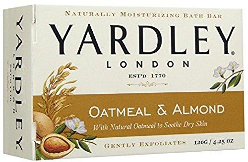 Yardley London Oatmeal and Almond Naturally Moisturizing Bath Bar, 4.25 oz. (Pack of 24)