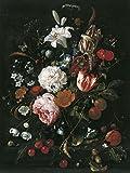 The Museum Outlet–Bouquet de fleurs dans un vase en verre–environ 1665–Impression sur toile en ligne (61x 45,7cm)