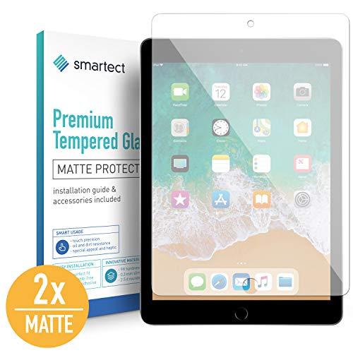 smartect Mat Beschermglas compatibel met iPad 2018 / iPad 2017 / Pro 9.7 / Air/Air 2 [2x Matte] - screen protector met 9H hardheid - bubbelvrije beschermlaag - antivingerafdruk kogelvrije glasfolie
