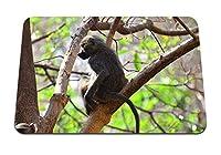 22cmx18cm マウスパッド (座っている猿の枝) パターンカスタムの マウスパッド