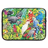 Waterproof Laptop Sleeve 13 Inch, Colorful Parrots Birds Business Briefcase Protective Bag, Computer Case Cover for Ultrabook, MacBook Pro, MacBook Air, Asus, Samsung, Sony, Notebook