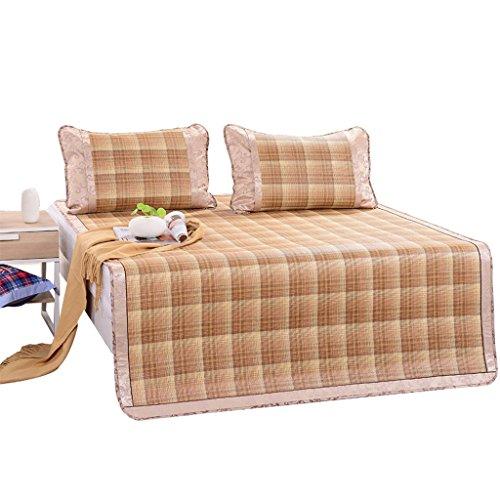 Tapis de siège en rotin été pliant glace lit de soie lit double tapis doux trois pièces 1.8m lit tapis de conditionnement d'air confortable doux (180 * 200cm) Xuan - worth having