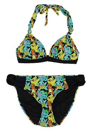 Pokemon Ingear Damens Wos Stilvolle Pokemon Gepolstert 2 Stück Bikini Pikachu Badeanzug (Klein, Pikachu Classic (Black Multi))