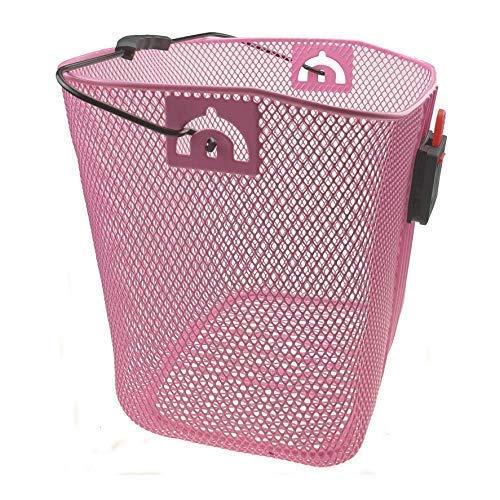 maxxi4you Fahrradkorb Vorderradkorb Lenkerkorb abnehmbar Farbe Pink