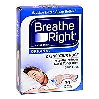 Breathe Right Nasal Strips, Small/Medium - 30 CT, 3 Pack by GLAXO SMITHKLINE CONSUMER