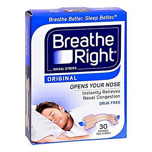 Breathe Right Nasenstrips Nasenpflaster (Doppelpack = 2 Packungen mit je 30 Stück) in Hautfarbe. Größe: L/Large. Verbessert die Nasenatmung ohne Chemie.
