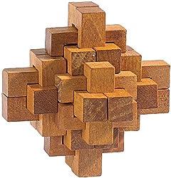 Playtastic Knobelspiele: Geduldspiel Der verhexte Knoten (Geduldspiel Holz)
