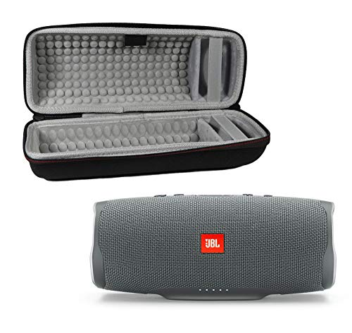 JBL Charge 4 Waterproof Wireless Bluetooth Speaker Bundle with Portable Hard Case - Gray