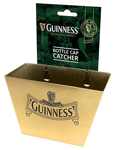 Gold Guinness Ireland Collection Bottle Cap Catcher With Harp Design Logo by Guinness